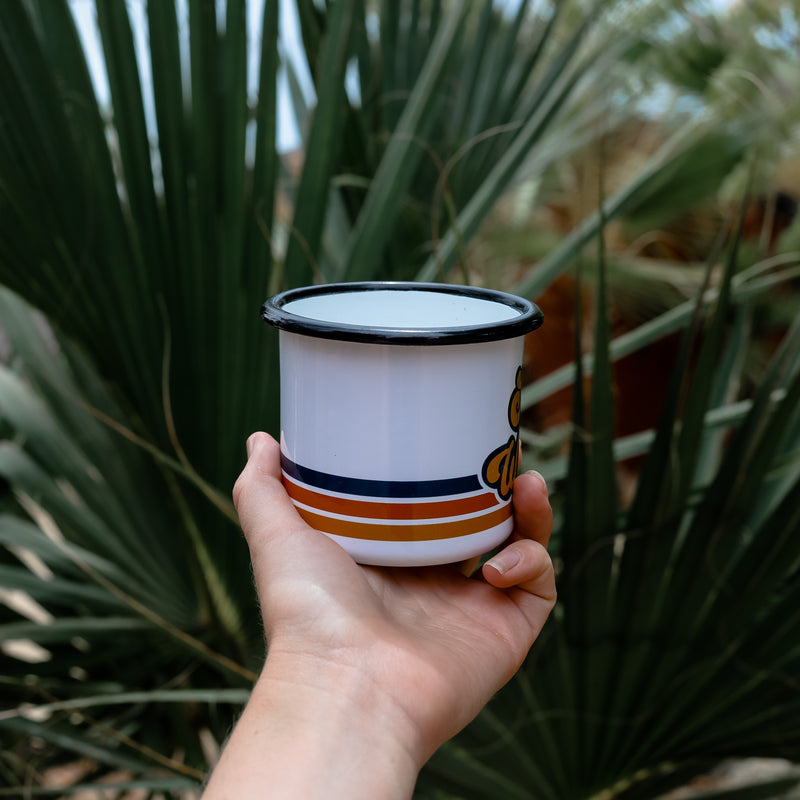 Retro Stay Wild Enamel Coffee Mug