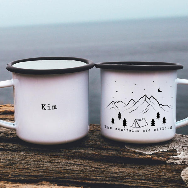 Mountains Calling Camping Mug