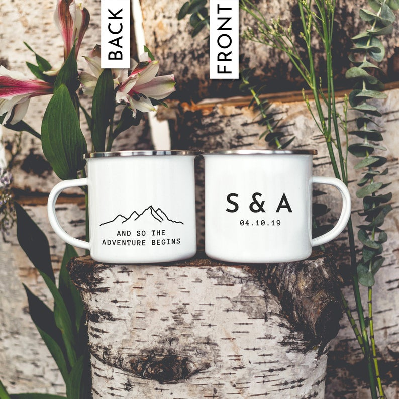Wedding Favor Camping Mug