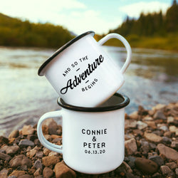 And So The Adventure Begins Camping Mug