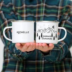 Mountain Bachelorette Mugs Enamel Mugs