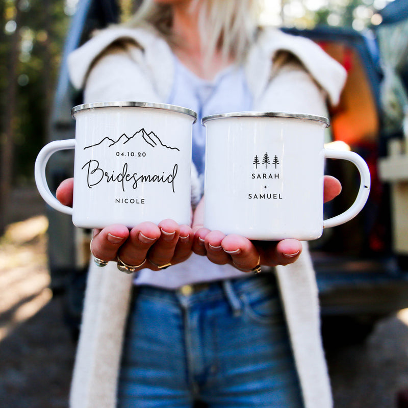 Bridal Party Camping Mugs