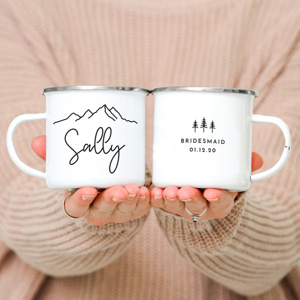 Bridal Party Wedding Camping Mugs