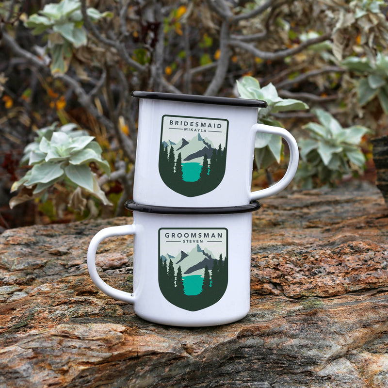 Groomsman Bridesmaid Camp Mugs
