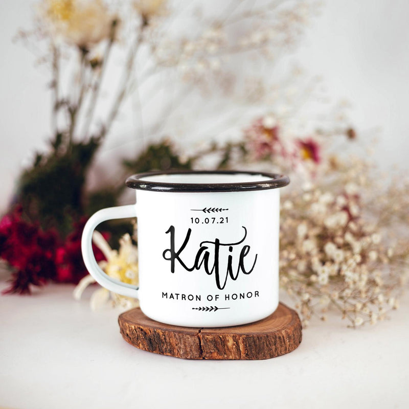Bridesmaid Bridal Party Camping Mugs