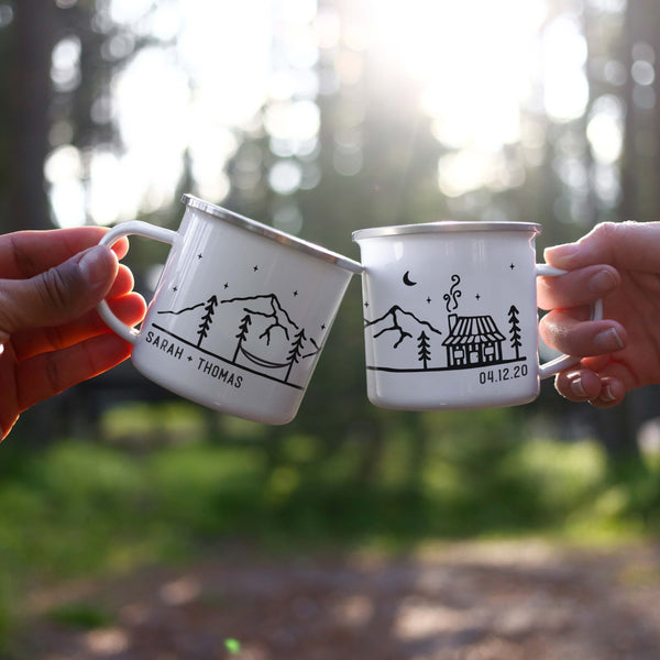 Personalized Camping Mugs - Cabin