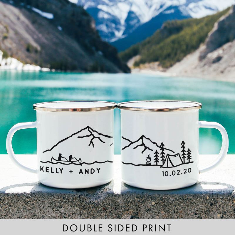 Personalized Name Canoe Design Camping Mug