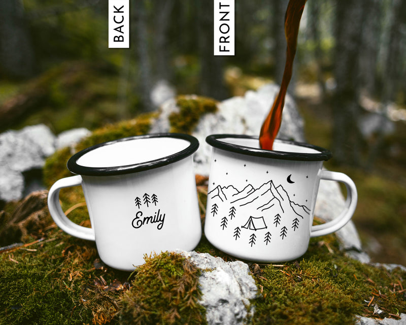 Custom Camping Mug Mountains