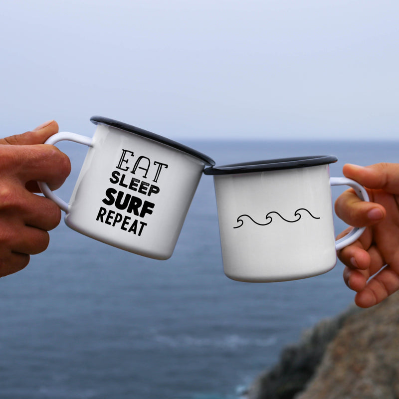 Eat Sleep Surf Repeat Camping Mug