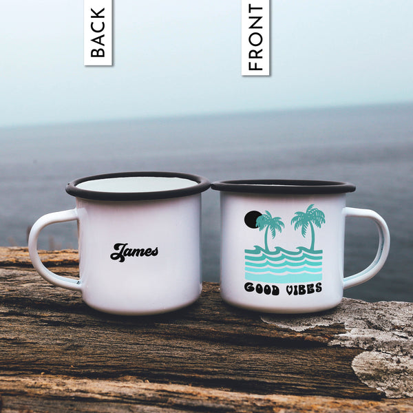 Good Vibes Ocean Camp Mug