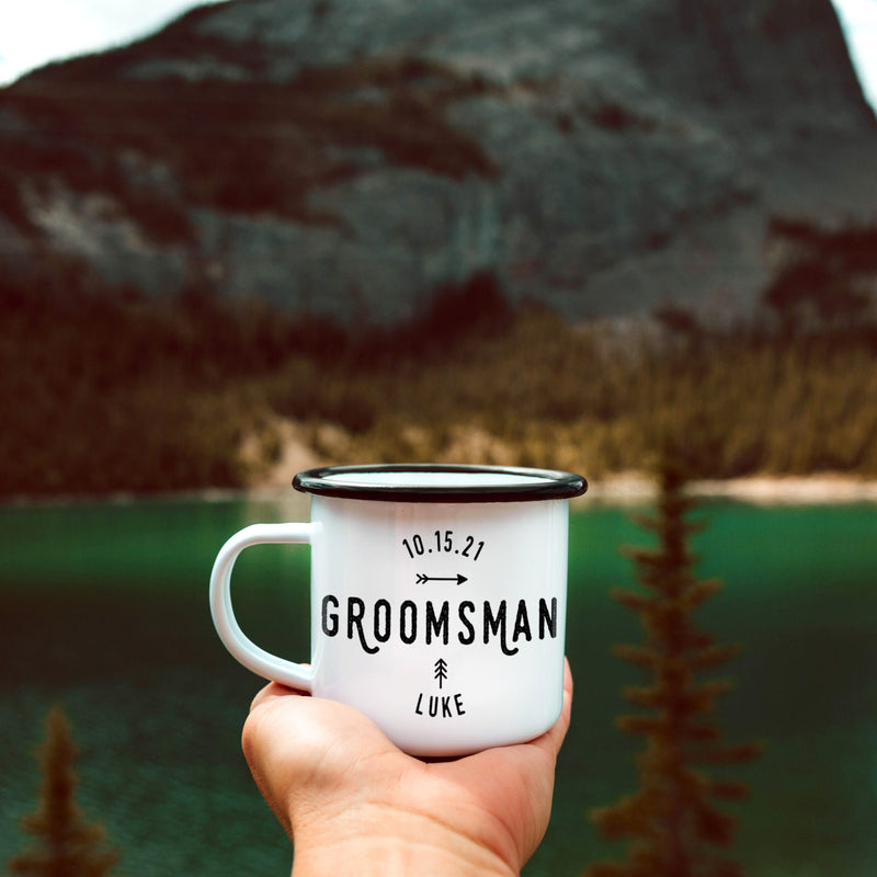 Best Man Enamel Mug