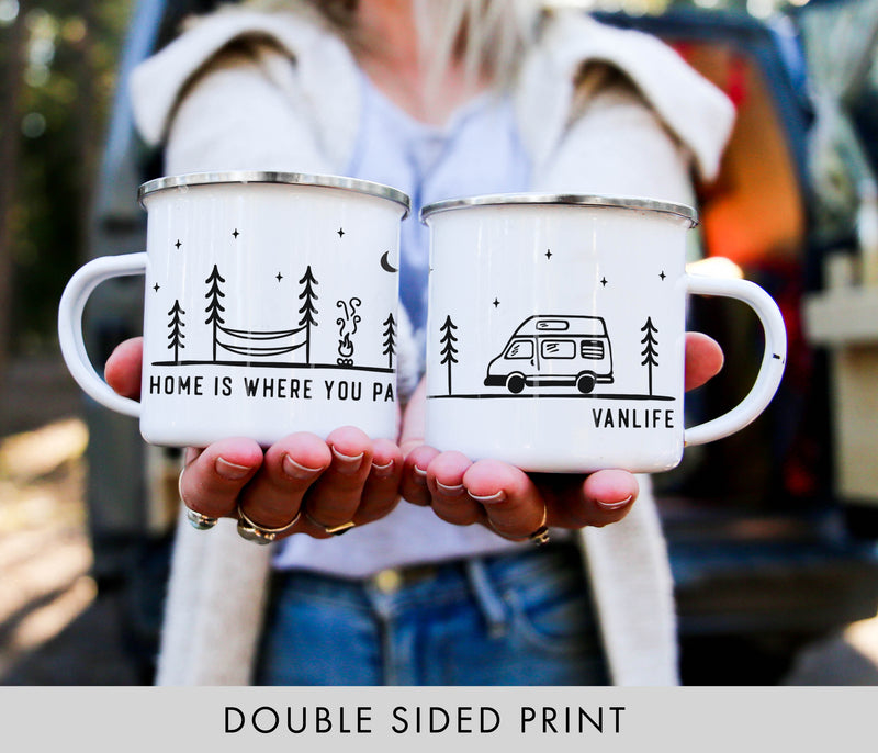 Home Is Where You Park It Vanlife Camp Mug