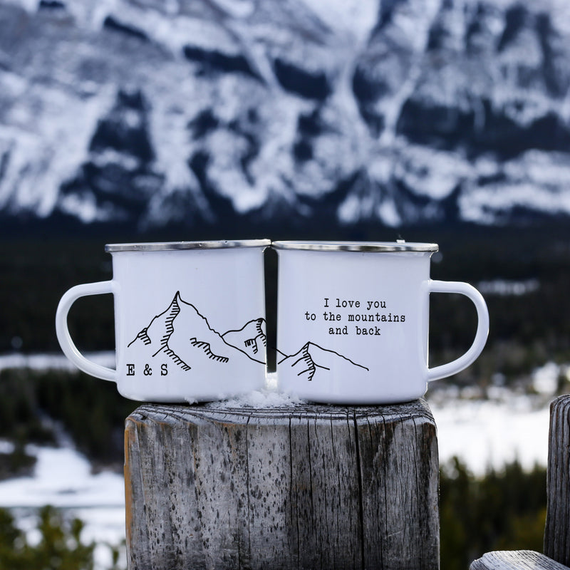 Personalized I Love You To The Mountains Campfire Mug