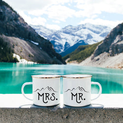 Mr Mrs Camp Mugs Mountains - Personalized Camp Mugs - ODYSEA Store USA