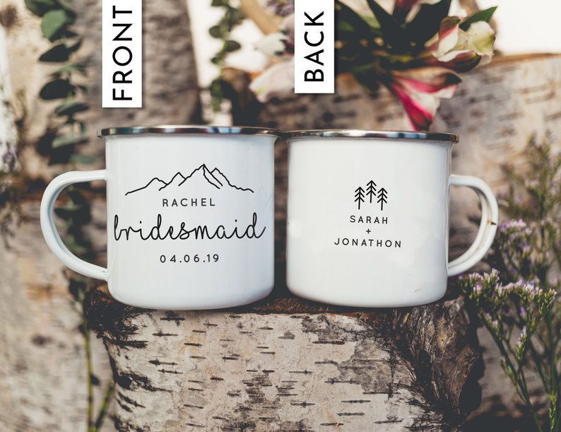 Bridesmaid Maid of Honor Camping Mug - Personalized Camp Mugs - ODYSEA Store USA