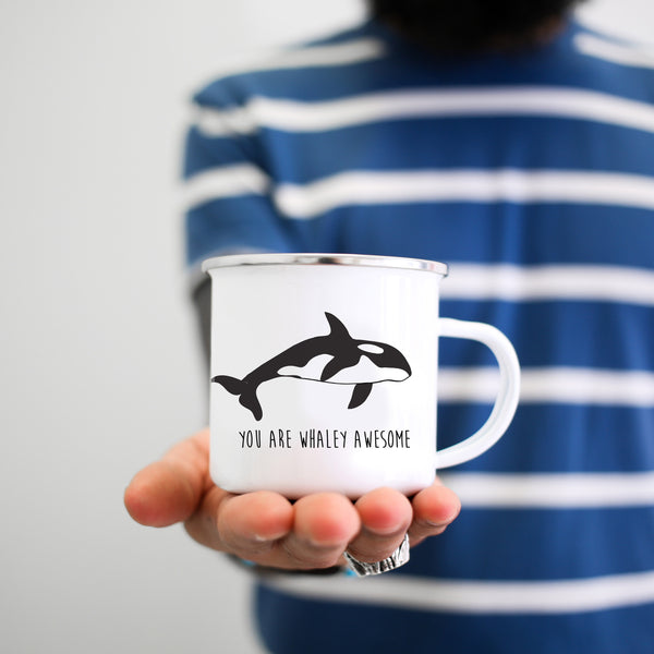 You Are Whaley Awesome Orca Whale Mug - Personalized Camp Mugs - ODYSEA Store USA