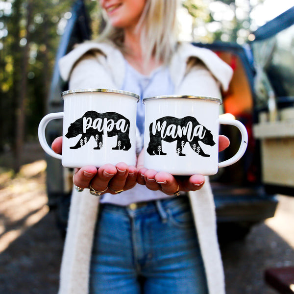 Mama Bear Papa Bear Trees - Personalized Camp Mugs - ODYSEA Store USA