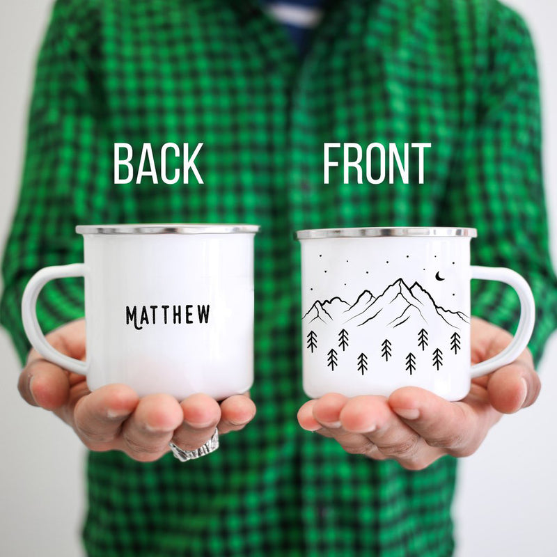 Personalized Campfire Mug Mountains - Personalized Camp Mugs - ODYSEA Store USA