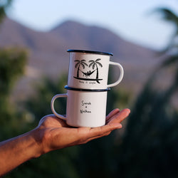 Hammock Keep It Simple Surf Enamel Mug