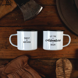 Let The Adventure Begin Campfire Mugs