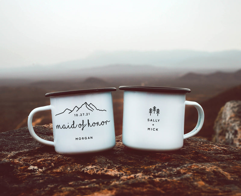 Personalized Bridesmaid Maid of Honor Camping Mug