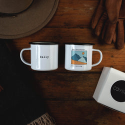 The Mountains Are Calling Campfire Mug