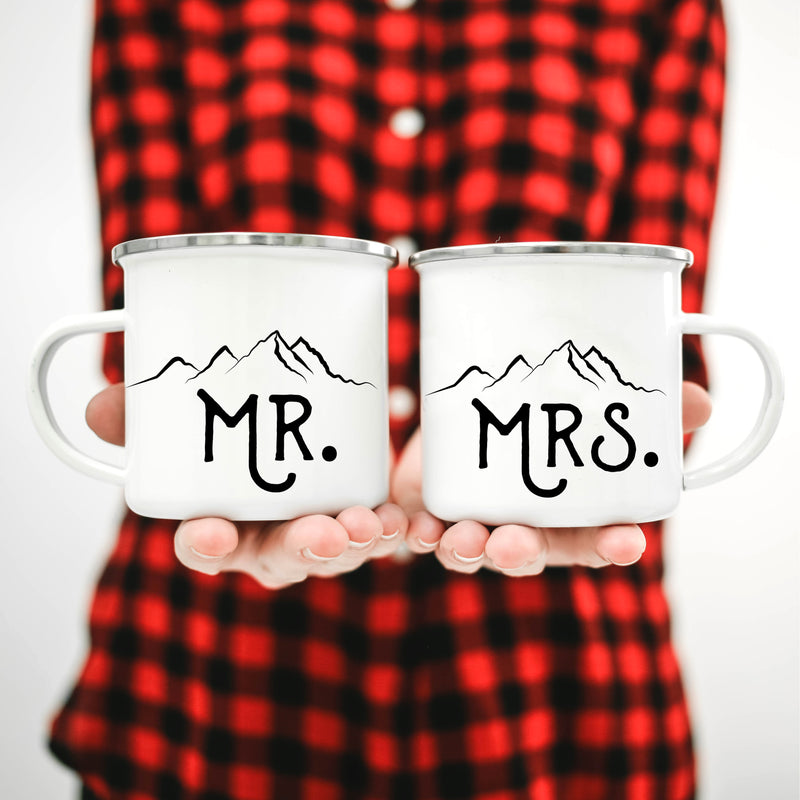 Mr and Mrs Coffee Mugs -  Mountains