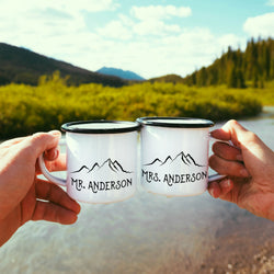 Personalized Mr Mrs Mugs