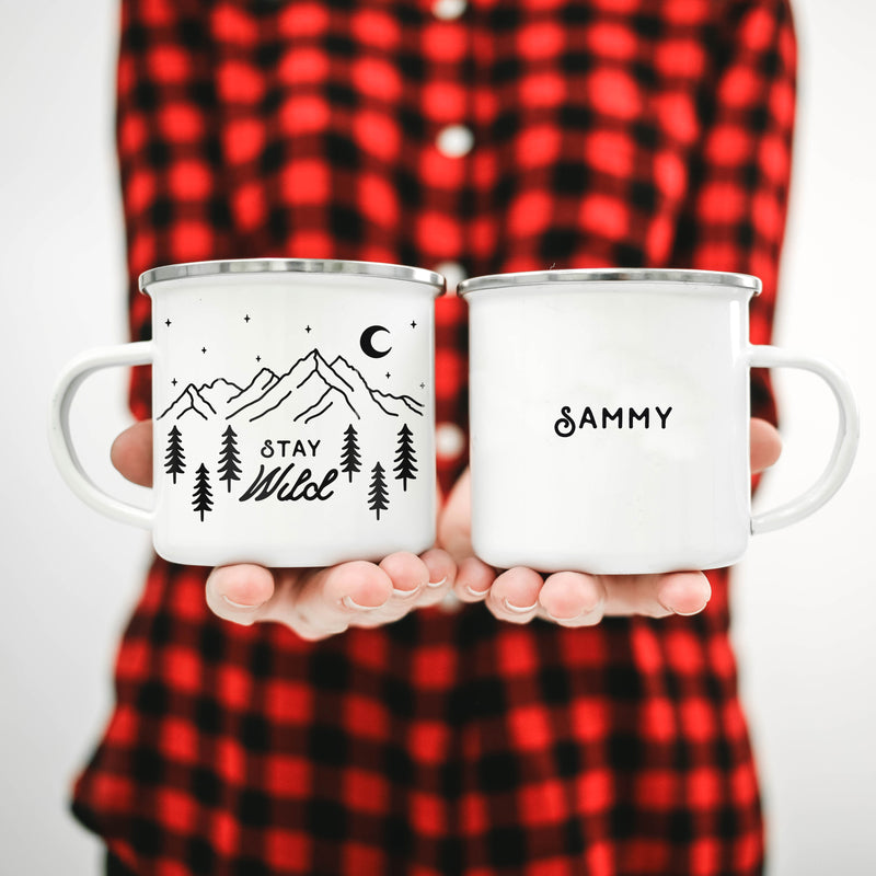 Stay Wild Personalized Campfire Mug - Personalized Camp Mugs - ODYSEA Store USA