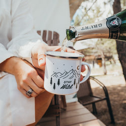 ODYSEA Stay Wild Personalized Name Enamel Camping Mug