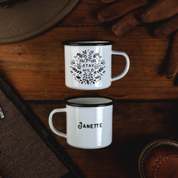 Personalized Scandi Folk Camp Mug- Stay Wild