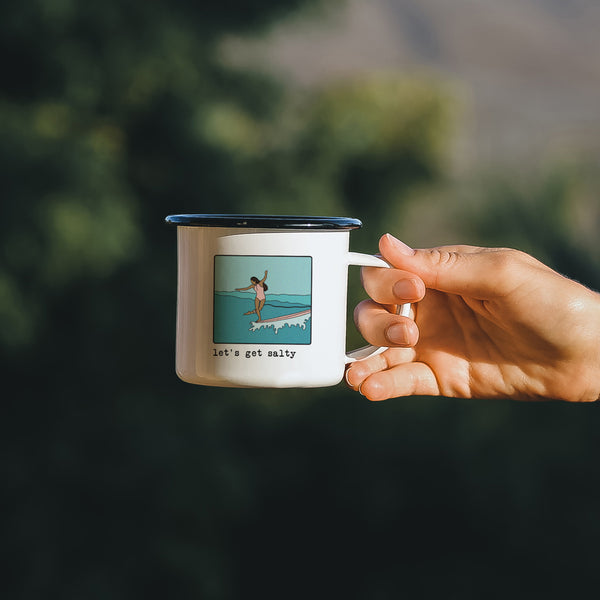 Surfer Girl Mug 'Lets get salty'