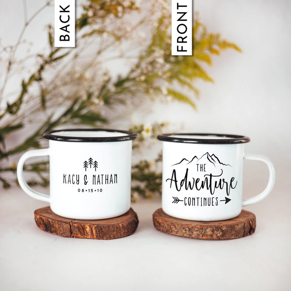 Adventure Continues Camp Mugs