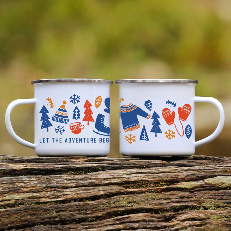 Blue Winter Campfire Mug