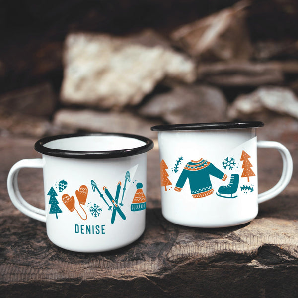 Nordic Winter Campfire Coffee Mug