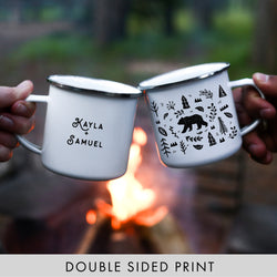 Woodland Bear Camping Mug Personalized