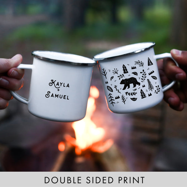 ODYSEA Woodland Bear Personalized Camping Mug