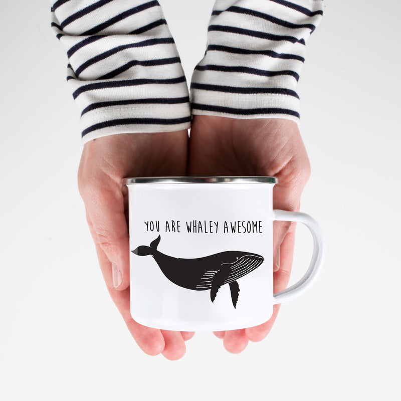 You Are Whaley Awesome Humpback Whale Mug - Personalized Camp Mugs - ODYSEA Store USA