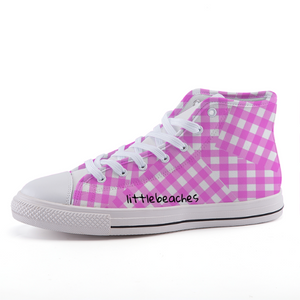 Old School Pink High Tops - Little Beaches