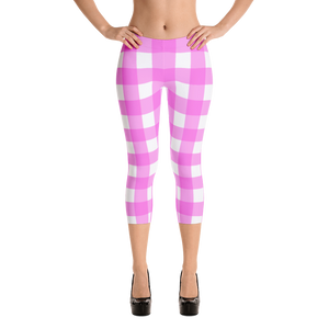 Pink Retro Capri Leggings for every occasion - Little Beaches
