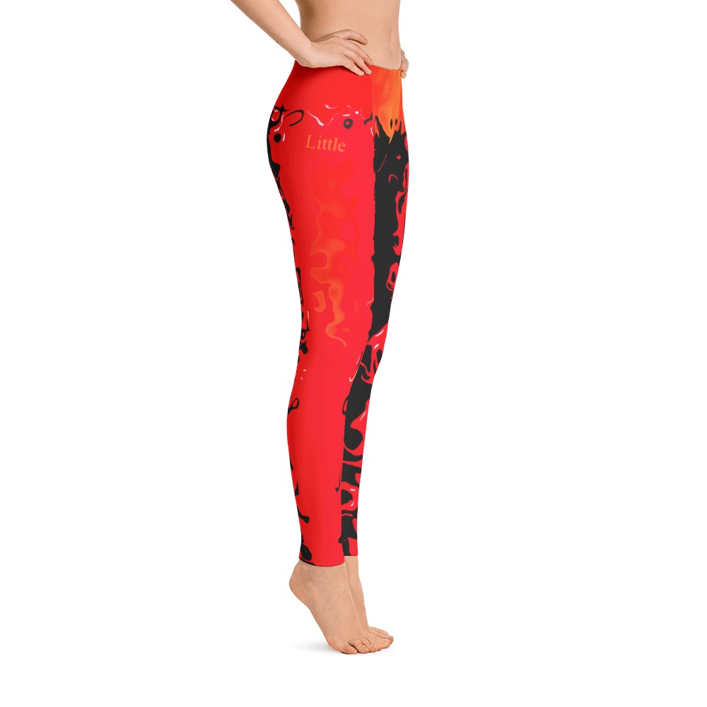 RED GOLD BLACK LEGGINGS - Little Beaches