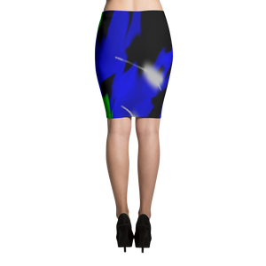 Blaa Bluu Gree  Pencil Skirt - Little Beaches