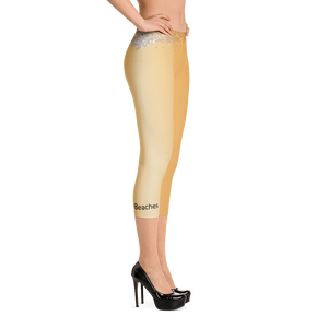 Liquid Gold Capri Length Leggings - Little Beaches