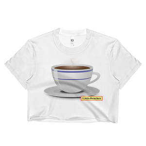 Coffee Cup Crop Top  Made in USA - Little Beaches