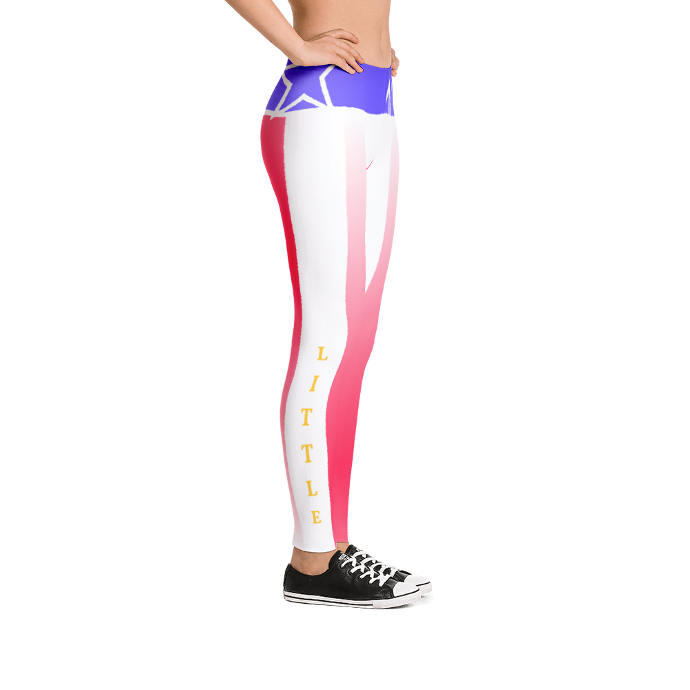 Red White and Blue Stars and Stripes Leggings - Little Beaches