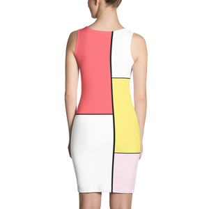 "Pastel Patchwork Form Fitting Dress  ""Ay Caramba"""