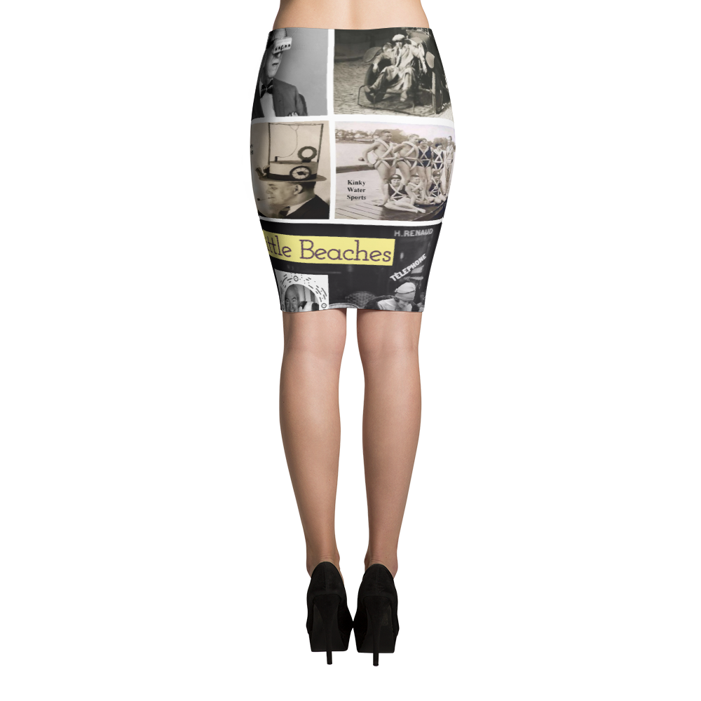 Retro pencil Skirt - Little Beaches