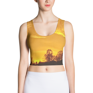 Country Golden Sunset Crop Top - Little Beaches