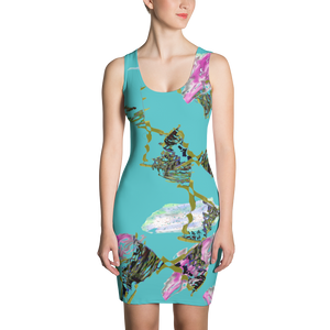 Patterned Print Turquoise  Dress - Little Beaches
