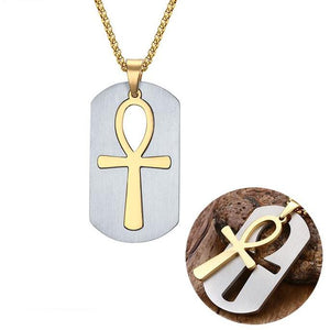 Vnox Removable Ankh Necklace Pendant Surgical Steel Life Cross